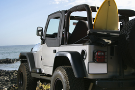 Jeep at a Beach
